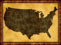 карта США Стоковая Фотография