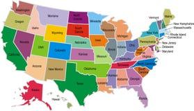 Карта США Стоковое Изображение RF