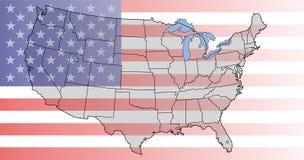 карта США Стоковое Фото
