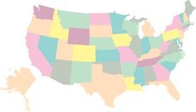 карта США Стоковые Фото