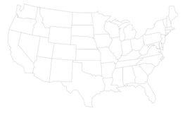 карта США Стоковая Фотография RF