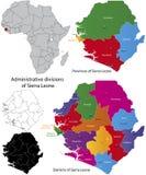 Карта Сьерра-Леона Стоковое Изображение RF