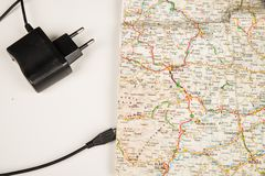 Карта с кабелем USB стоковое фото rf