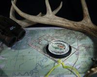 Карта с компасом Стоковое фото RF