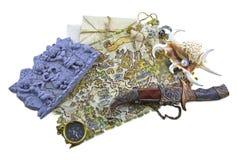Карта с ножом и раковиной Стоковые Изображения