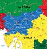 Карта Словении Стоковое Изображение RF