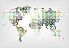 Карта с точками в других цветах Стоковые Изображения