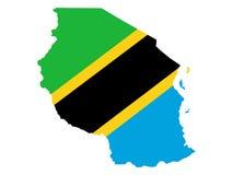 карта Танзания Стоковые Изображения
