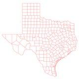 Карта Техаса Стоковая Фотография