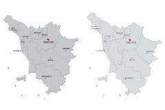 карта Тоскана Стоковые Изображения