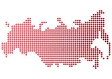 Карта точки России Стоковые Изображения