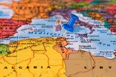 карта Тунис Стоковые Изображения