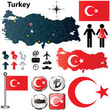 Карта Турции Стоковое Изображение RF