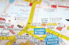 Карта улицы Лондона Стоковое Изображение RF