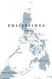 Карта Филиппин политическая бесплатная иллюстрация