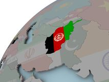 карта флага Афганистана Стоковые Фото