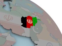карта флага Афганистана Стоковое Изображение RF