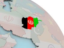 карта флага Афганистана Стоковая Фотография