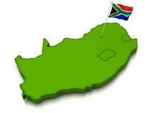 карта флага Африки южная Стоковое Изображение RF