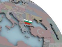 карта флага Болгарии Стоковые Фото