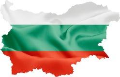 карта флага Болгарии стоковая фотография rf