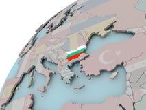 карта флага Болгарии Стоковое Фото
