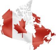 карта флага Канады стоковое изображение