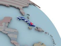 карта флага Кубы Стоковые Фотографии RF