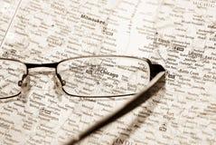 карта фокуса chicago селективная Стоковое Фото