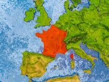 карта Франции Стоковая Фотография RF