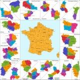 Карта Франции Стоковое Изображение