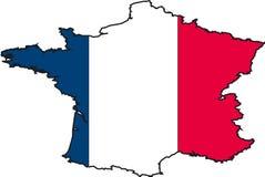 карта Франции Стоковые Изображения