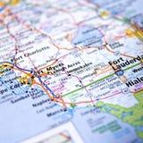 Карта Флориды Стоковые Изображения