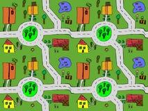 Карта шаржа безшовная Стоковое Изображение