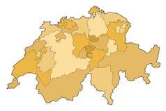 карта Швейцария Стоковое Фото