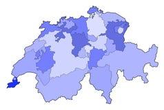 карта Швейцария Стоковые Изображения