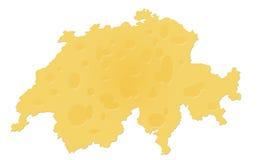 Карта швейцарского сыра Швейцарии Стоковые Фото