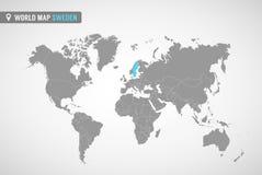 карта Швеция  Страны Европы иллюстрация вектора
