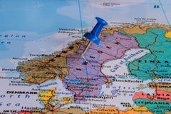карта Швеция Стоковая Фотография RF