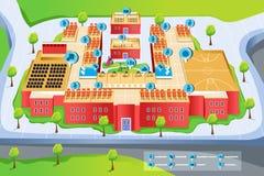 Карта школы Стоковые Фото