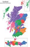 карта Шотландия Стоковое Изображение RF