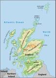карта Шотландия Стоковые Изображения