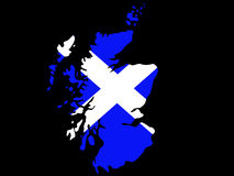 карта Шотландия Стоковое фото RF