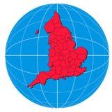 карта Шотландия Стоковые Изображения RF