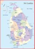 Карта Шри-Ланка Стоковая Фотография RF