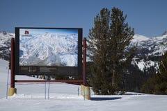 Карта лыжи Mammoth Mountain Стоковая Фотография