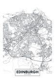 Карта Эдинбург города плаката вектора детальная бесплатная иллюстрация
