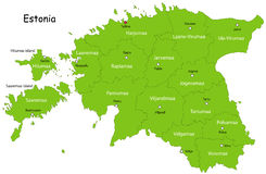 Карта эстонии вектора Стоковое Фото