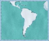 Карта Южной Америки, нарисованных проиллюстрированных ходов щетки, географической карты, физики Картоведение, географический атла бесплатная иллюстрация
