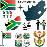 Карта Южно-Африканская РеспублЍ с зонами иллюстрация вектора